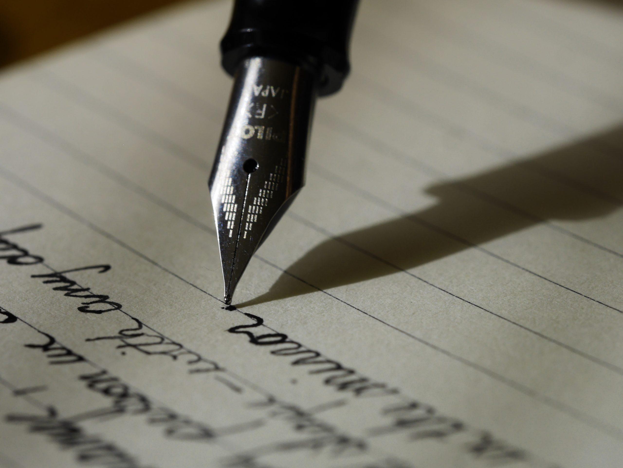 écriture stylo plume